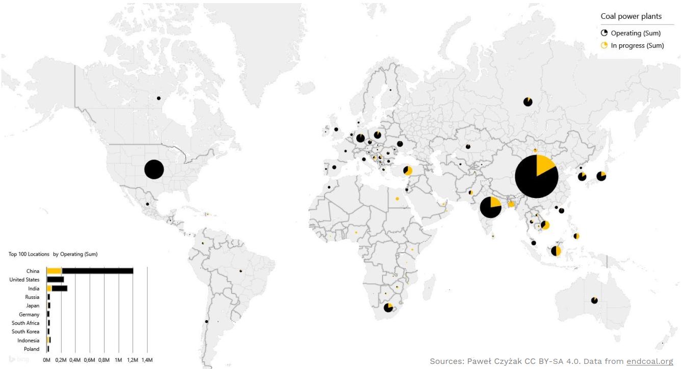 Coal Power Plants Map